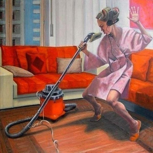 Разукрашки марта, смешные картинки девушек в уборке