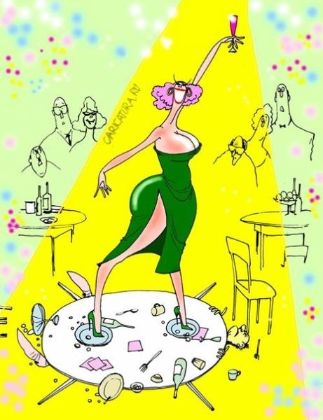 Пьяная женщина картинки смешные рисованные
